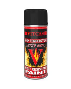 HEAT RESISTANT SPRAY PAINT-BLACK - VITCAS