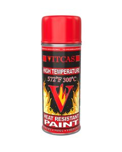 HEAT RESISTANT SPRAY PAINT-RED - VITCAS