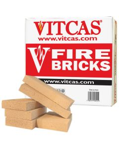 VITCAS 6 Fire Bricks Replacement Box for Stoves & Fireplaces - VITCAS