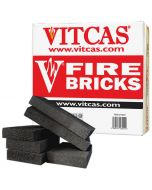 VITCAS Fire Bricks-6 Black for Stoves & Fireplaces - VITCAS