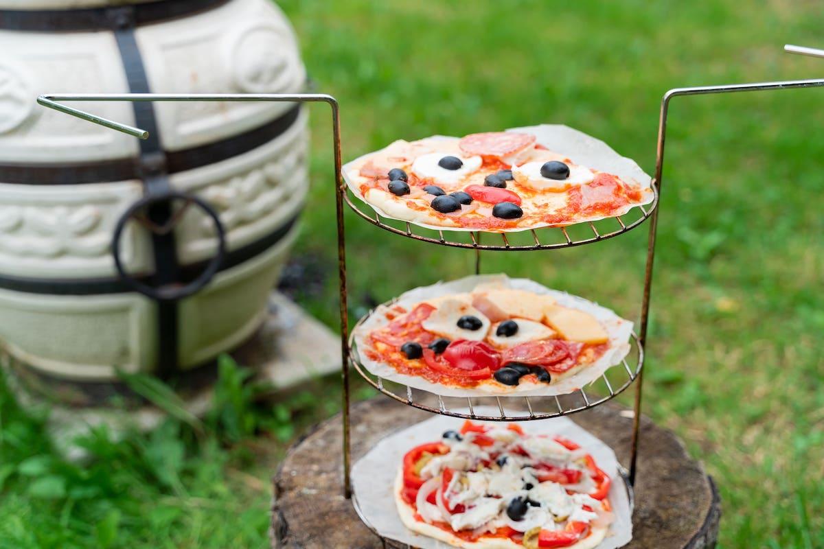 Pizza baked in Tandoori oven